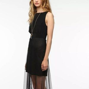 Reformation Satin Finish with Skirt Overlay Dress